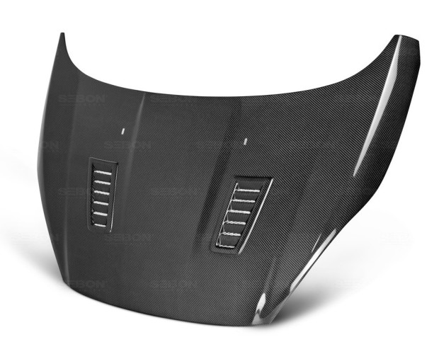 RS-style carbon fiber hood for 2014-up Ford Fiesta